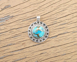 4.53g - 925 Sterling Silver Pendents with Natural Stone / JW138