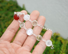 7.17g - 925 Sterling Silver Bracelet with Natural Stone / JW219