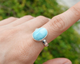 4.32g - 925 Sterling Silver Rings with Turquoise Stone / JW223