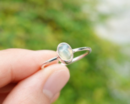 1.38g - 925 Sterling Silver Rings with Natural Opal Stone / JW229