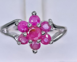26.26 Crt Natural Ruby 925 Silver Ring