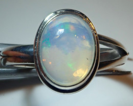 7.50sz Mexican Opal .925 Sterling Silver Ring