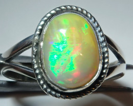 8.75size Natural Ethiopian Welo Opal .925 Sterling Silver