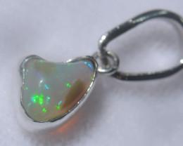 Blazing Welo Solid Opal Pendant