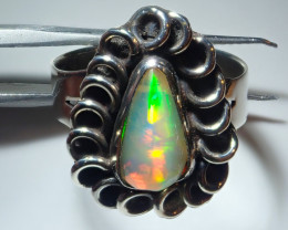 7size Natural Ethiopian Welo Opal .925 Sterling Silver