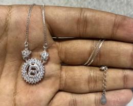 Letter B 925 silver Necklace an Unique designs