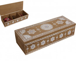 Chest Boho Box with triple dividers  Code BOHOBTRI