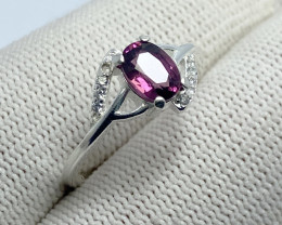 Natural Rhodolite Garnet Raspberry Color - 925 Sterling Silver (OCT04)