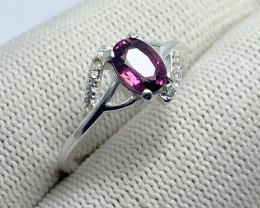 Natural Rhodolite Garnet Raspberry Color - 925 Sterling Silver (OCT04)