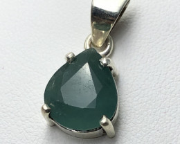 Natural Greenish blue Grandidierite Handmade 925 Silver Pendant