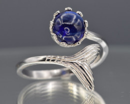Natural Sapphire and  925 Silver Ring