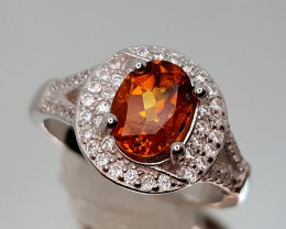 23CT MADEIRA CITRINE RING 925 SILVER 8 NR auction IGC10