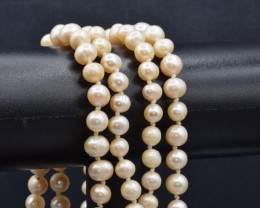 Natural Fresh water pearl Strand Necklace