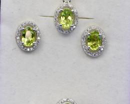 Natural Peridot Pakistan Jewelry set