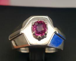 Natural Ruby Men Ring.