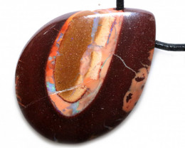 72.20 CTS BOULDER OPAL  WITH ADJUSTABLE STRAP  [SJ4884]