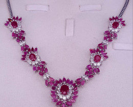 Natural Ruby Necklace.