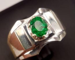 Natura vivid Green Emerald men Ring.