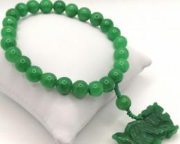 Green Jadeite Jade Bracelet 214.50 TCW