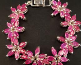 Natural Ruby Bracelet.