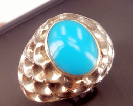 Natural Gents Turquoise Ring.