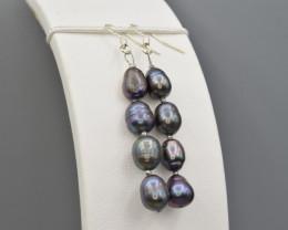 Natural Fresh water pearl ,Earrings