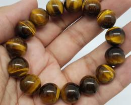 Natural Tiger Eye 295.00 Carats Bracelet