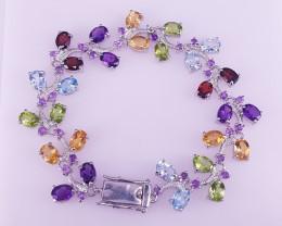 Natural Multi Stones Bracelet.