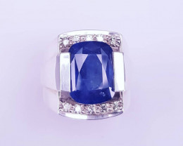 Certified Natural Sapphire Ring.