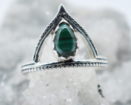 RING 925 STERLING SILVER NATURAL GEMSTONE JR880