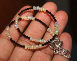 9 Crts Natural Ethiopian Welo Opal & Spinel Bracelet