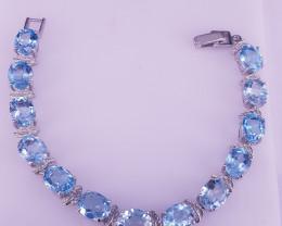 Natural Blue Topaz Bracelet.