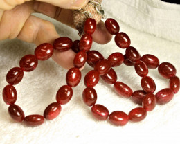 224.5 Tcw. Ruby Pebble Necklace - Superb