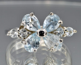 Natural Topaz and 925 Silver Ring