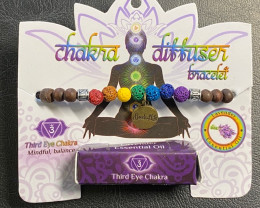 Third Eye  Chakra Tree Of life lava Stone Lavender Diffuser Bracelet Code C