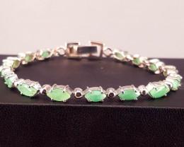 Natural Emerald Bracelet.