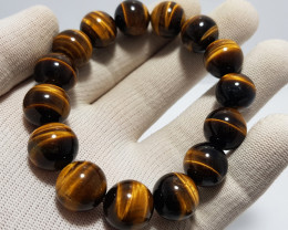 Natural Tiger Eye Bracelet 298.00 Carats