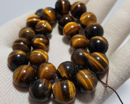 Natural Tiger Eye Beads 535.00 Carats