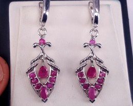 Natural Ruby Earrings.