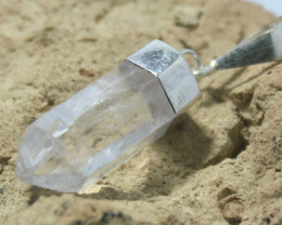 Natural Quartz Pendant.