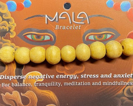 Meditation Bead Bracelet Light wood color Code BUDDMALA