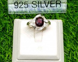 19.40ct  Charming Natural Spinel in 925 Sterling Silver Ring.