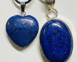 69 cts lapis lazuli-one Pendant and Heart shape one CCC 224