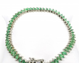 Emerald Tennis Bracelet 14.26 TCW