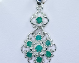 15.65 Crt Natural Emerald 925 Sterling Silver Pendant