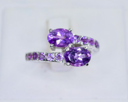 23.40 Crt Natural Amethyst 925 Sterling Silver Ring