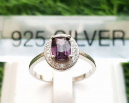 15.50ct Natural Spinel In 925 Sterling Silver Ring.