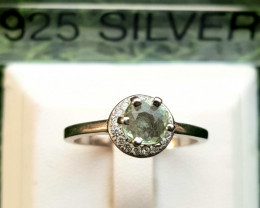 13.60ct Natural Tourmaline in 925 Sterling Silver Ring.