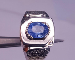 Certified Natural Sapphire Men Ring.