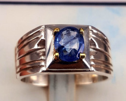 Natural Sapphire Men Ring .